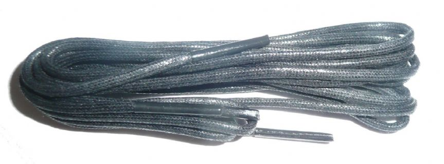 BRITISH QUALITY Black Fine Waxed Boot Shoe Laces 180cm long sold in pairs